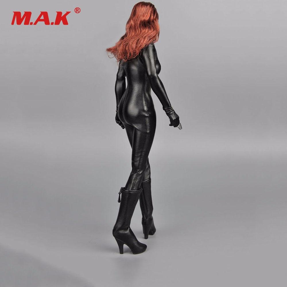 Custom Black stretch leather pants F 1:6th TBLeagure JIAOUDOL Female Figure Doll