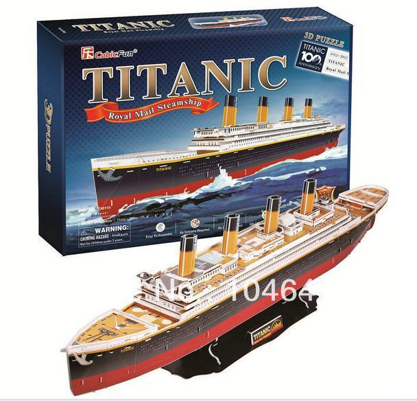TITANIC CubicFun 3D educational puzzle Paper & EPS Model Papercraft Home Adornment for christmas gift colosseum cubicfun 3d educational puzzle paper
