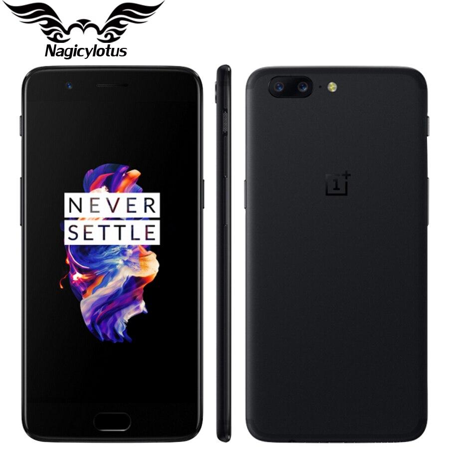 Marque Nouvelle D'origine OnePlus 5 Mobile téléphone 4g LTE 5.5 ''Snapdragon 835 Octa Core 6 gb 64 gb 20.0MP 16.0MP NFC D'empreintes Digitales Smartphone