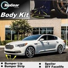 Бампер для губ отражатель губы для KIA GT K9 K900/Quoris передний спойлер юбка для TopGear друзья Тюнинг автомобиля вид/обвес/полоса