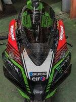 Мотоцикл Обтекатели щит от ветра лобового стекла с выхлопной трубы из углеродного волокна для Honda Kawasaki ZX10r 2011 2016