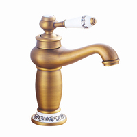 Tap Bathroom Faucet European Style Copper Faucet European Antique Hot And Cold Double Open Basin Faucet Bathroom Accessories