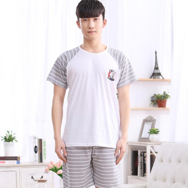 1083 de Los Hombres del patrón del ancla de manga corta Pijama traje