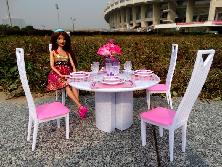 Free Shipping Girl birthday gift plastic Play Set Furniture Living room  chairs doll furniture doll accessories - Compare Prices On Barbie Living Room Furniture Set- Online