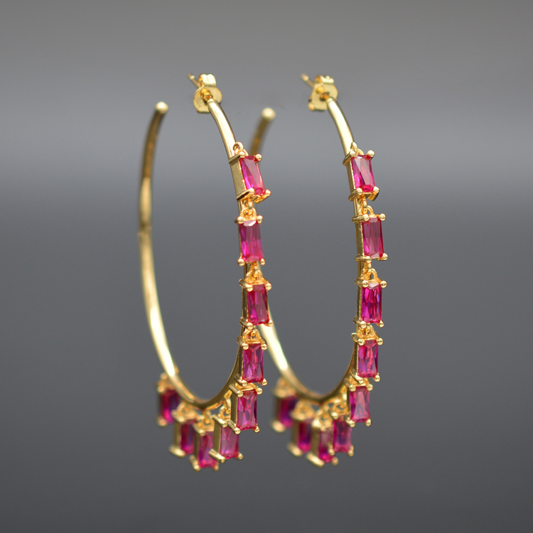 Fashionable gold copper eardrop euramerican is tasted newly suit tide woman
