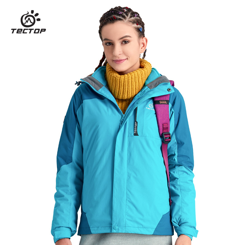 New Brand Winter Women 3 in 1 Hiking Jackets Outdoor Waterproof Thermal  Two-piece Coats For Travelling Skiing Climbing S-XXXL new winter 3 in 1 kids hiking jackets children boys girls waterproof thermal two piece fleece coats hiking skiing jacket