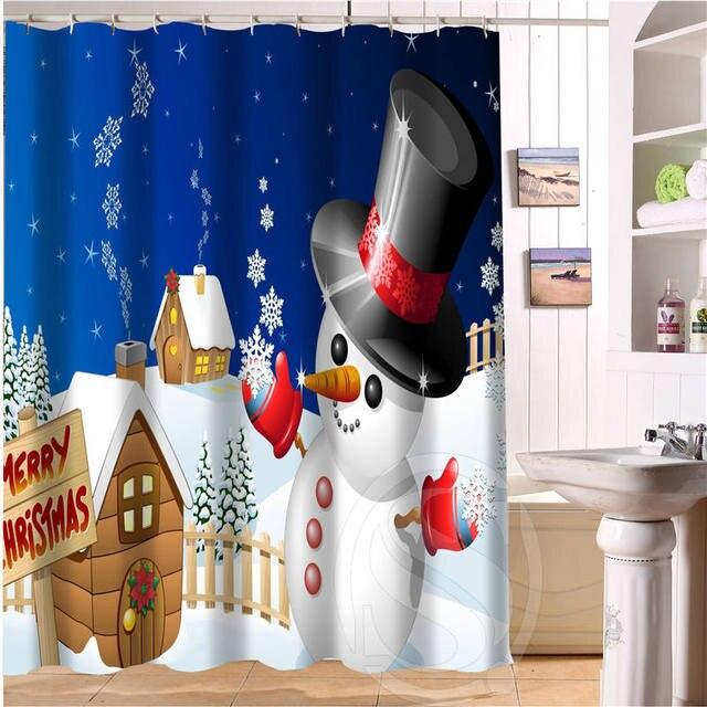 Custom Popular Merry Christmas, Snowman Shower Curtain Bathroom Decor  Waterproof Shower Curtain Free Shipping SQ0616j
