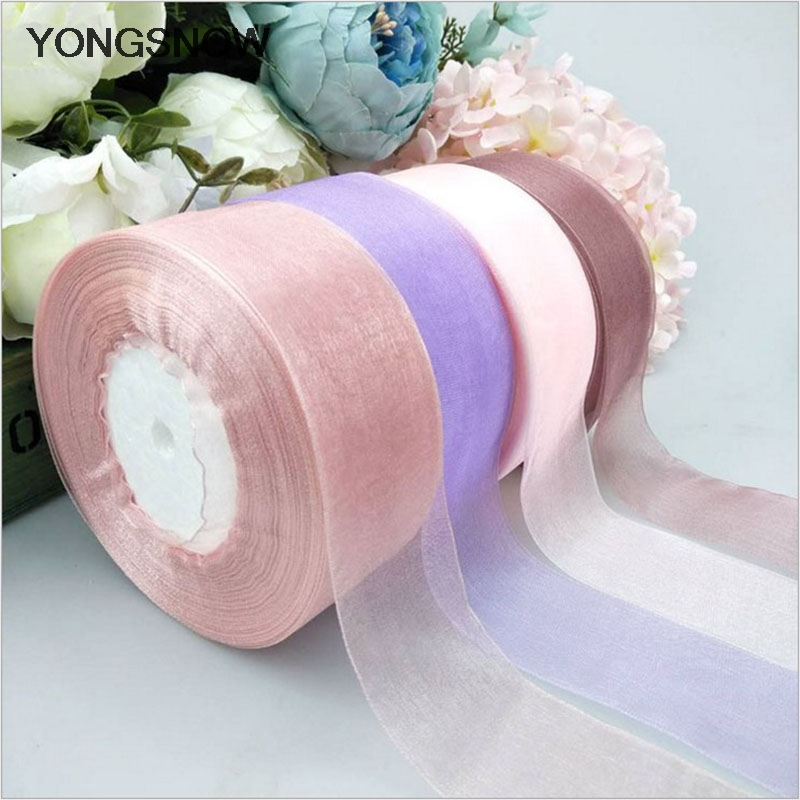 4cm 45m Silk Satin Ribbon Packing Material Diy Bow Craft Decor