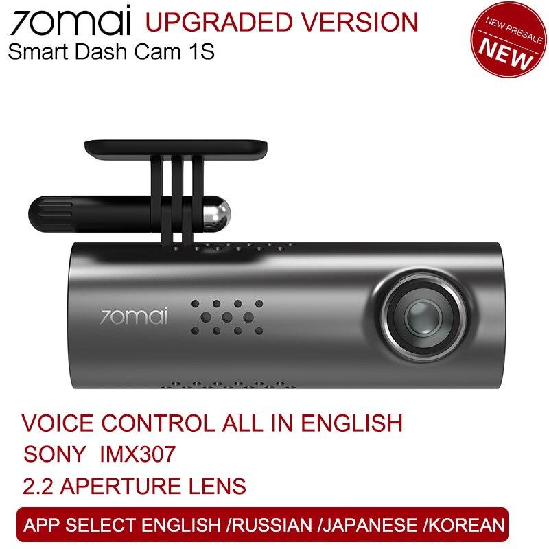 70mai 1080HD 1S Controle de Voz Inteligente cam Traço Cam Night Vision Câmera Do Carro DVR Carro inteligente Wifi 70 mai registro Auto Dashcam