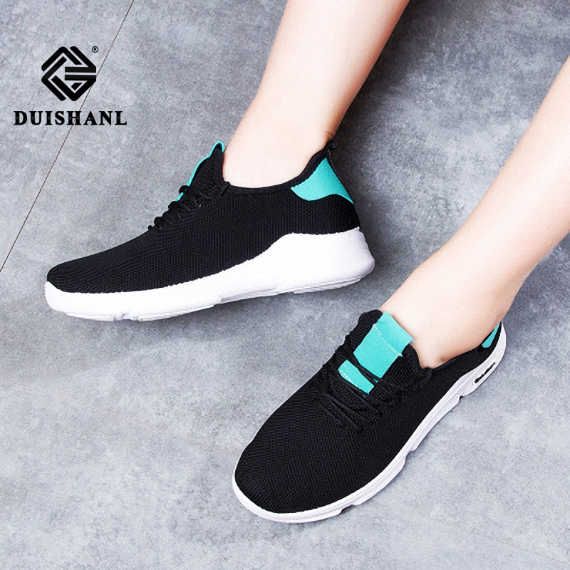 Summer new casual running shoes women's mesh breathable sports women's shoes trend flying woven shoes women's tourism outdoor