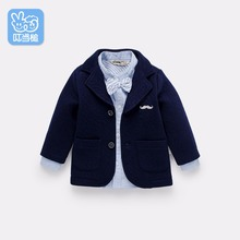 baby Western style Handsome Kids Spring Autumn Boutique Suits Party Formal Clothes Baby Solid Outerwear