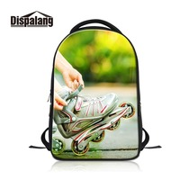 Dislapang Personalized Laptop Backpack Wholesale Computer Daypack Bookbag for Student High Quality Material Canvas Rucksack