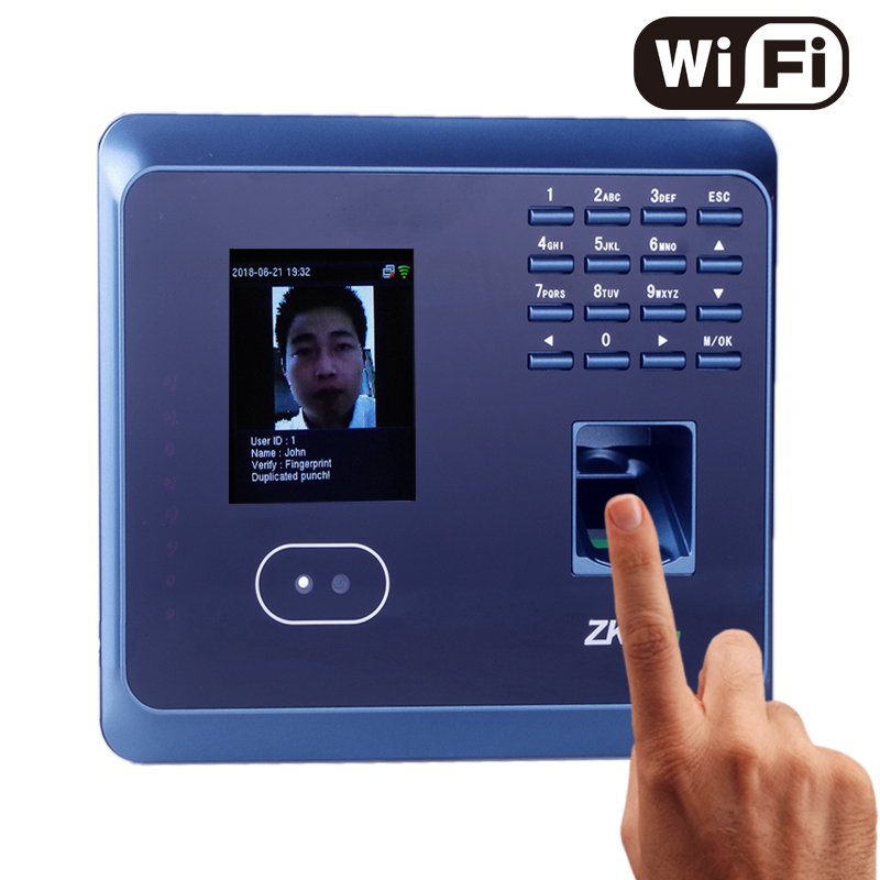 ZKteco WiFi UF100Plus Face/Fingerprint Time Attendance with Free Software Biometric facial Fingerprint Employee Time Attendance цена