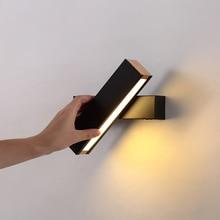 Nordic Creative Led Bedside Mirror Lights Concise Modern Fashion Bedroom Corridor Wall Lamp Sconce Bathroom Lighting Wall Lamp недорого