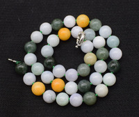Emerald green round 10mm AA necklace 18inch FPPJ wholesale beads nature