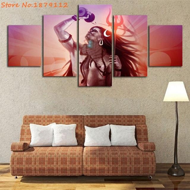 Promotion Lord Shiva The Universe Indian Religion Not Framed