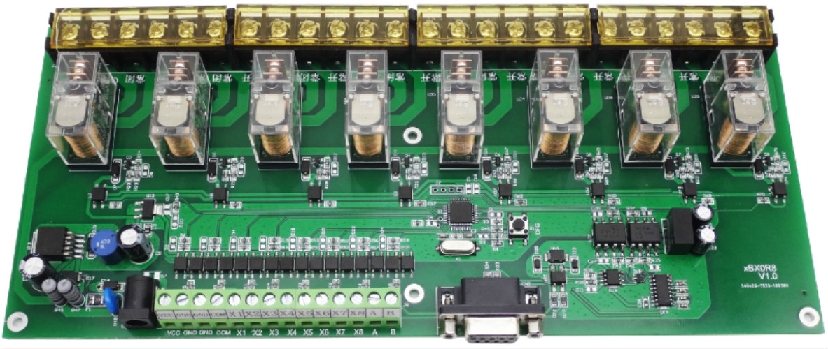8-Channel Relay Control Board 16A RS485  RS232  Modbus rtu With Isolation Programmable8-Channel Relay Control Board 16A RS485  RS232  Modbus rtu With Isolation Programmable