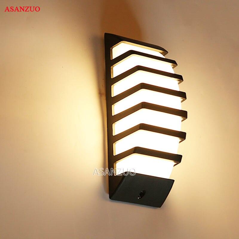 Aluminum Outdoor Sconce Wall Light 7W COB LED Wall Lamps AC85-265V Courtyard Balcony Lamps Garden Lamp Porch Light