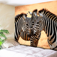 Африканский Зебра печатных большой гобелен настенный висячий животное декоративные гобелены богемный Мандала настенная Ткань Искусство Д...
