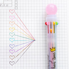 3 pcs Multi color ballpoint pen Crystal crown 0.5mm roller ball pens for marker writing Office tool school supplies Canetas F976