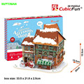 Cubic fun of 3D paper puzzle LED with lights Christmas Candy House dessert shop gift shop Educational Toys for Children's  gifts