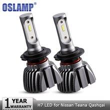 Oslamp H7 автомобиля светодиодный фар лампы Противотуманные фары 50 Вт 8000lm 6500 К авто фары CSP светодиодный фары 12 В 24 В для Nissan Teana Qashqai