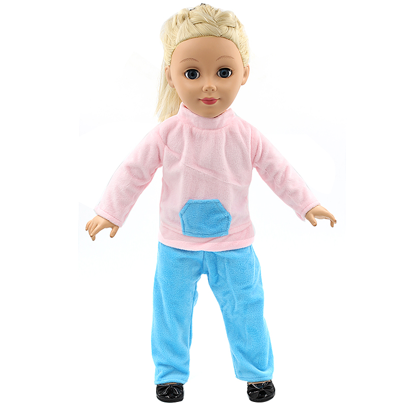 Stock 15 styles Princess Dress Doll Clothes fit 43cm Baby Born Doll Fashion Leisure suit and Accessories for kids MG082