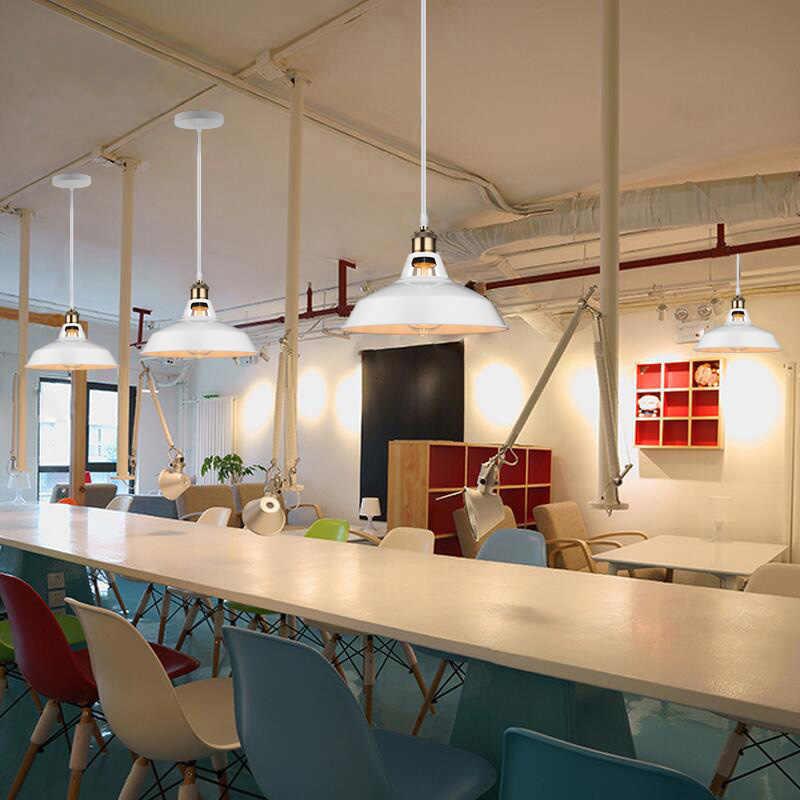 الصناعية الرجعية قلادة أضواء مطعم المطبخ المنزل مصباح معلق غرفة المعيشة الزخرفية Vintage قلادة ضوء عاكس الضوء لمبة