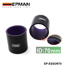 EPMAN – 2.75″ 70mm 4-Ply Silicone Intercooler Turbo Intake Pipe Coupler Hose BLACK  For Audi TT/S3/For Seat Leon EP-ESS0R70