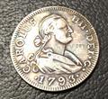 1793 Испания 4 Реала-Карлос IV копия монет