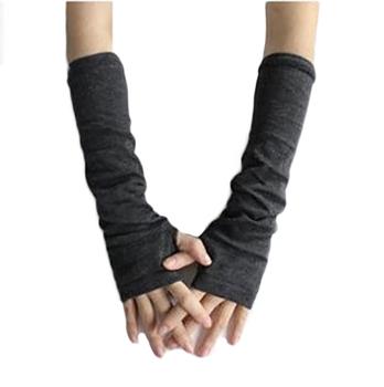 Kobiety ciepła wełniana dzianina rękawiczki bez palców zimowe rękawiczki z dzianiny pół palca rękawiczki mankietowe długie rękawiczki damskie rękawiczki bez palców tanie i dobre opinie Dla dorosłych CN (pochodzenie) Unisex COTTON Poliester Stałe Elbow Moda D790 Gloves Mittens fingerless gloves winter gloves