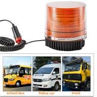 12/24V LED Car Roof Emergency Hazard Warning Light Vehicle Police Flasher Strobe Beacon Light Flashing Light Magnet Lamp Yellow