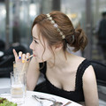 Sunshine fashion flower hair headband Accessories new fashion hollow out rose hair jewelry Hairbands gold plated for women