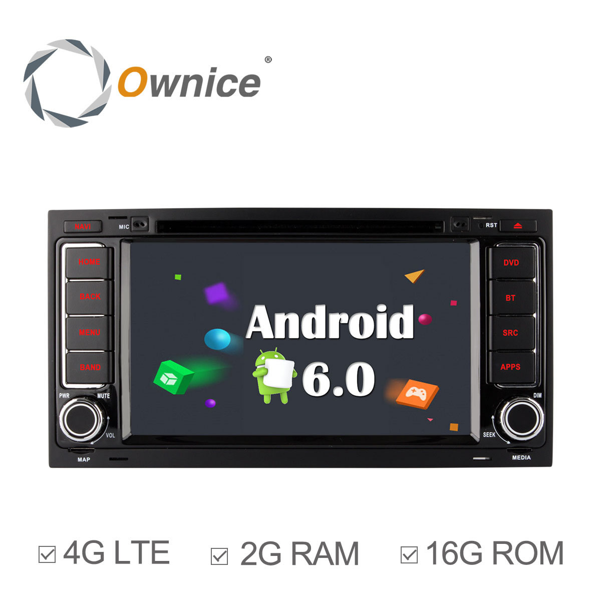 Ownice C500 Android 6.0 4 Core 2G RAM Car DVD Radio GPS Player for Volkswagen Touareg T5 Multivan Transporter 4G LTE Network