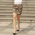 2016 nova primavera e verão moda ocidental personalidade magro elastic saia de cintura alta saia curta Saia Lápis