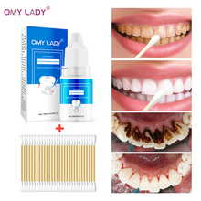 OMYLADY Teeth Whitening Tooth Brush Essence Oral Hygiene Cleaning Serum Removes Plaque Stains Bleaching Dental Tools