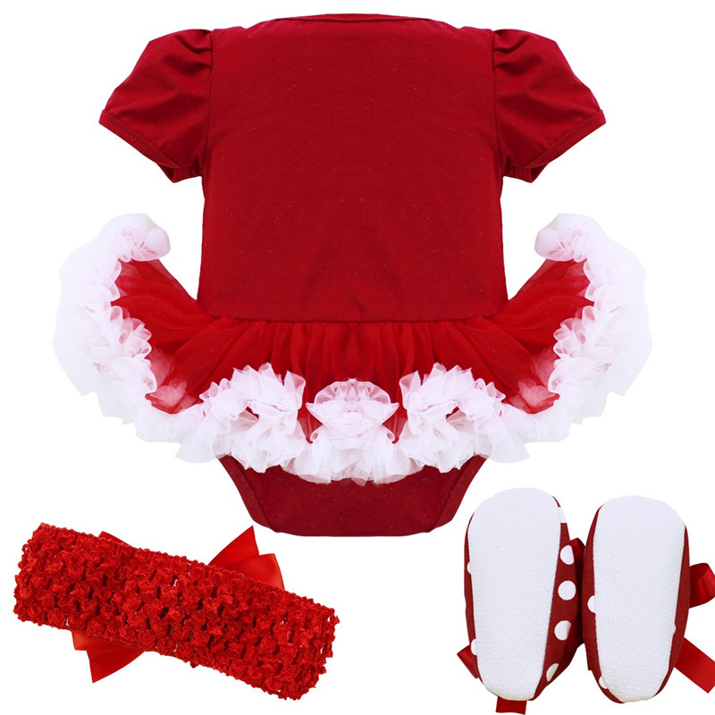 1b4600dd2246 2019 Baby Infant Girls Christmas Romper Newborn Baby Girl First ...