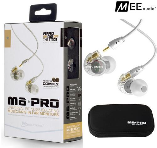 New Wired earphone MEE audio M6 PRO Universal-Fit Noise-Isolating earphones Musician's In-Ear Monitors headset good than PB3 PB dhl free 2pcs black white m6 pro universal 3 5mm wired in ear earphone noise isolating musician monitors brand new headphones