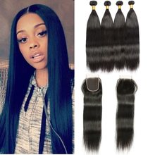 Peruvian Human Hair 4 Bundles Cheap Aliexpress Hair Weaving Mink Peruvian Straight Hair Bundles Unprocessed Virgin Hair Deal(China)