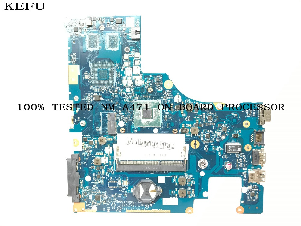 KEFU STOCK 100%  NEW  BMWC1/BMWC2 NM-A471 Laptop Motherboard For LENOVO 300-15IBR MAIN BOARD ON BOARD PROCESSOR N3050 / N3060
