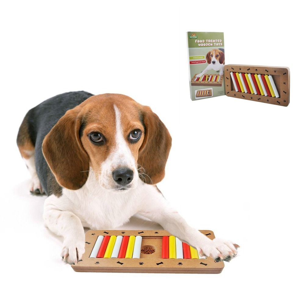 Toys For Dogs : Pet treated wooden toys dog educational puppy