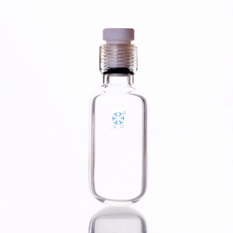 Thick-walled pressure bottle,Capacity 75ml,Outside diameter 45mm,Effective length 90mm,Female thread 25mm with PTFE thread plugThick-walled pressure bottle,Capacity 75ml,Outside diameter 45mm,Effective length 90mm,Female thread 25mm with PTFE thread plug