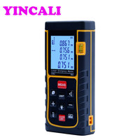 2 Pieces/lot High Precision LCD Display Laser Distance Meter SW E80 Digital Laser Rangefinder 80M storage 100 units