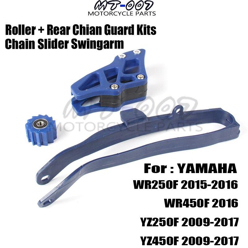 Guide de bras oscillant à curseur de chaîne rouleau inférieur + Kits de garde de guidage de chaîne arrière pour WR250F WR450F YZ250F YZ450F e-moto livraison gratuite