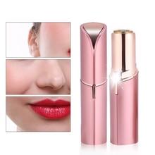 hot deal buy mini electric hair removal epilator women face painless lipstick shaver razor shaving machine depilator usb rechargeable
