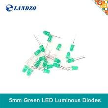 50pcs LED light emitting diode 5MM bright red yellow green white compatible arduino Landzo