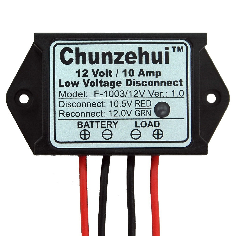 Chunzehui Low Voltage Disconnect Module LVD, 12V 10A, Protect/Prolong Battery Life.