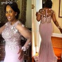 YNQNFS MD250 Для женщин платья Вечеринка Sheer длинным рукавом Элегантные шифоновые розочки Онлайн Длинные мать невесты платья наряды