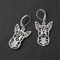 10pair/lot Alloy Jewelry Pendant Chihuahua Dangle Earrings Boho Animal Drop Earrings Long Brincos Longos XL-005