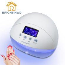 50W UV Lamp Nail Polish LED Purple Light 100-240V EU Plug 30S 60S 90S Timer Drying Fingernail Toenail BRIGHTINWD